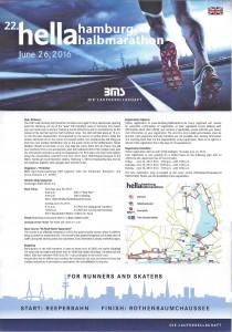 Halbmarathon – 22. hella hamburg halbmarathon, 25. Juni 2016: Läuferinformation
