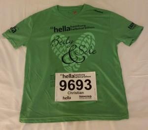 Halbmarathon – 22. hella hamburg halbmarathon, 25. Juni 2016: Mein Laufshirt