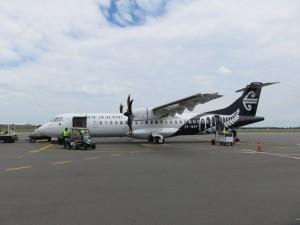 Christchurch - Mein Flieger nach Rotorua war ein Propellerflugzeug