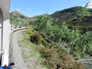 TranzAlpine Zug von Christchurch nach Greymouth