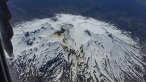 Flug von Christchurch nach Rotorua - Vulkan auf der Nordinsel