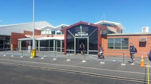 Rotorua - Ankunft am Flughafen