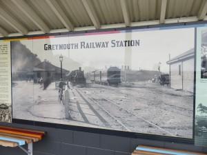 Greymouth - Ankunft des TranzAlpine Zug