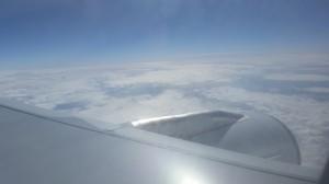 Über den Wolken auf dem Weg nach Neuseeland