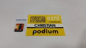 Rotorua Halbmarathon - Meine ungenutzte Startnummer