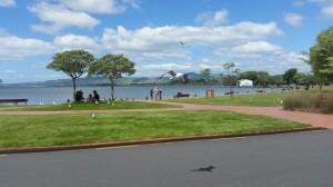 Rotorua - Blick auf die  Strandpromenade