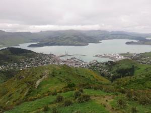 Christchurch - Ausflug mit der Seilbahn, Aussicht auf Christchurch