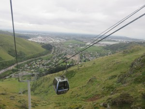 Christchurch - Ausflug mit der Seilbahn, Rückfahrt