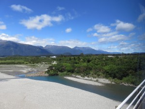 Fahrt von Fox Glacier nach Queenstown - Haast River Bridge