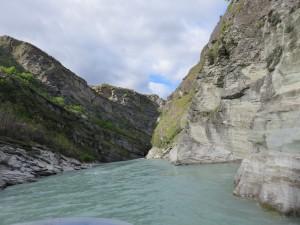 Queenstown - Jet Boot Ausflug nach Skippers Canyon, Im Jet Boot auf dem Shotover River