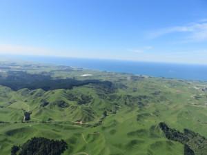 Helikopterflug nach White Island - Der Hinflug nach White Island