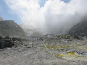 Helikopterflug nach White Island - Rundgang auf White Island, der Hauptvulkan