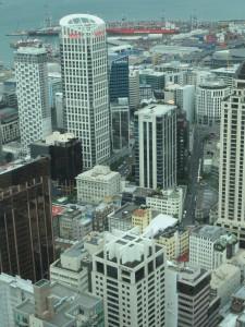Auckland - Ausblick auf Auckland von der 51. Etage des Sky Tower