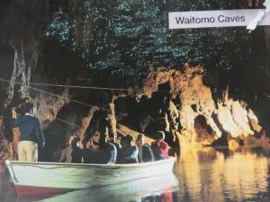 Fahrt von Rotorua nach Auckland - Besichtigung Waitomo Glowworm Caves, Postkarte von der Grotto