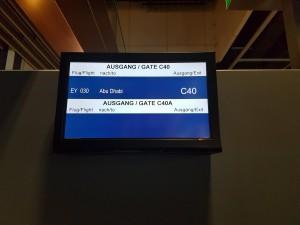 Düsseldorf: Abflug nach Abu Dhabi