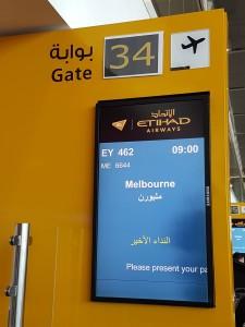Abu Dhabi: Abflug nach Melbourne