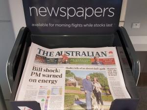 Melbourne: Die erste australische Zeitung dieses Jahr