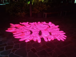 Cairns: Lasershow in der Fussgängerzone