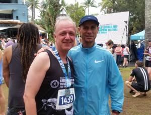 Port Douglas: Marathon Wochenende, Foto mit Steve Moneghetti