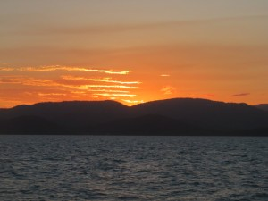 Cruise Whitsundays: Sonnenuntergang