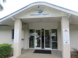 Whitsunday Rundflug: Ankunft am Flugplatz