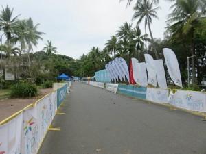 Port Douglas: Marathon Wochenende, Zieleinlauf nur wenige Meter vom Meer entfernt  :-)